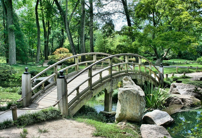 Bridge in an ornamental garden